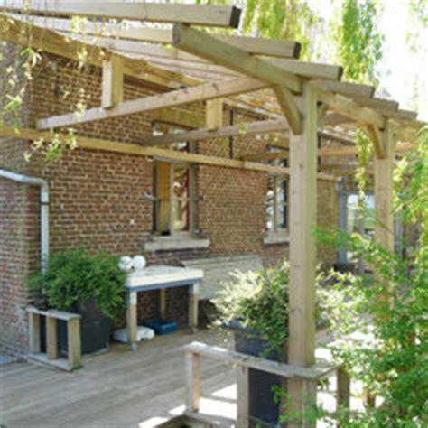 carport holz 4x4 carport en bois trait 233 adossable hauteur 2 50 m pergola