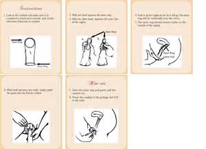 Female condom instructions how to use female condom with picture
