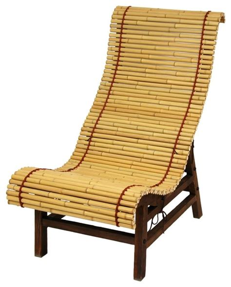 Traditional Japanese Chair curved japanese bamboo lounge chair living room chairs by furniture