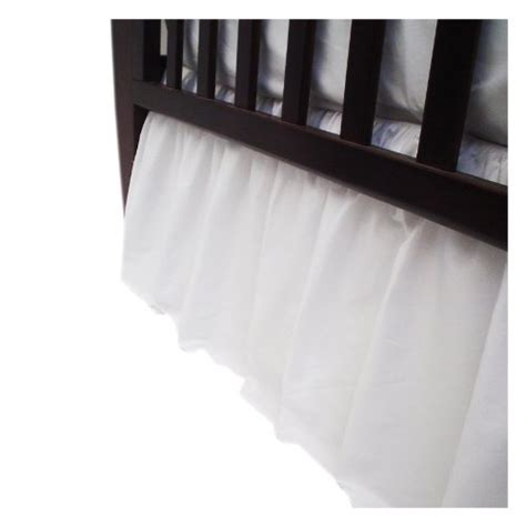 White Crib Bed Skirt American Baby Company Percale Crib Bed Skirt White Ruffled Crib Skirt Tutorial Deal Ruffled