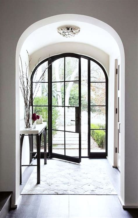 Steel Front Doors With Windows Picture Of Arched Glass And Steel Front Door