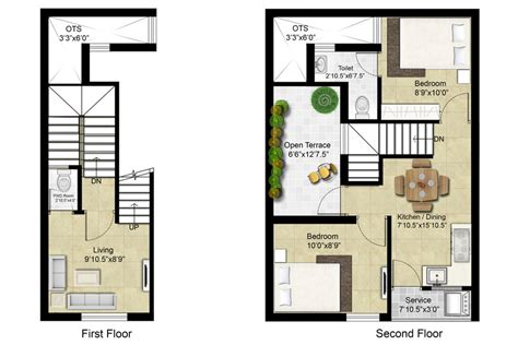 Philadelphia Row Home Floor Plan With Garage by Row House Floor Plans Row House Apartment Plans 800 Sq Ft