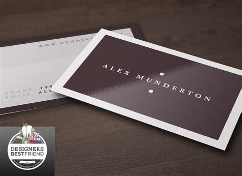 about project this free minimal business card template is