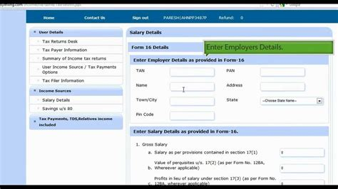 Https Fileit Tax Mba by Income Tax Returns Filing By Upload Form16 Mp4