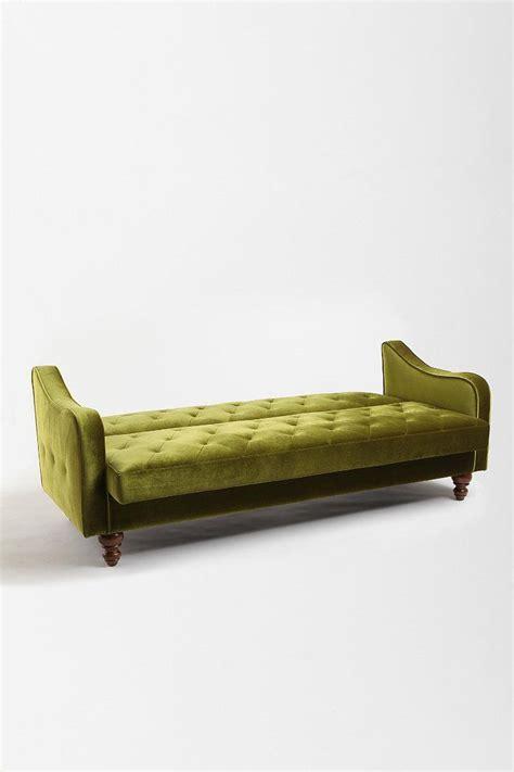 Ava Velvet Tufted Sleeper Sofa Urban Outfitters Sofas Velvet Tufted Sleeper Sofa