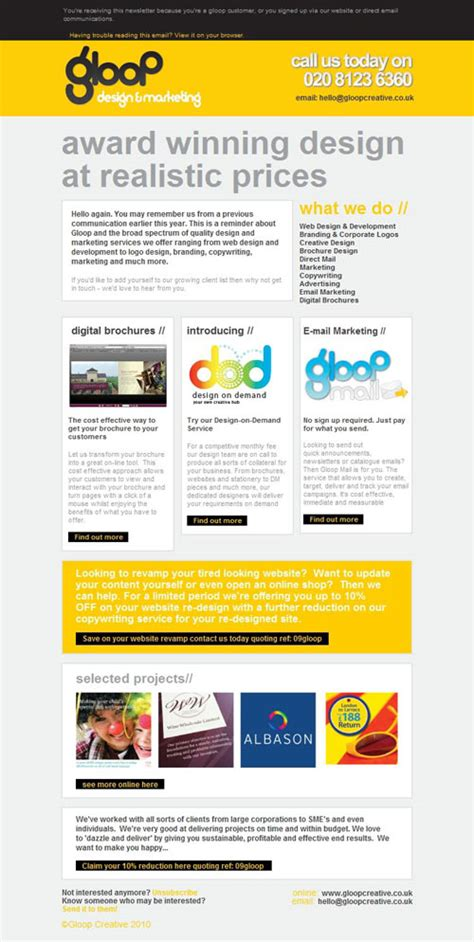 layout para email marketing modelos de email marketing guilherme goulart