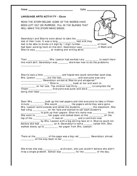 6th Grade Language Arts Worksheets by 4th Grade Interactive Language Arts Activities Free