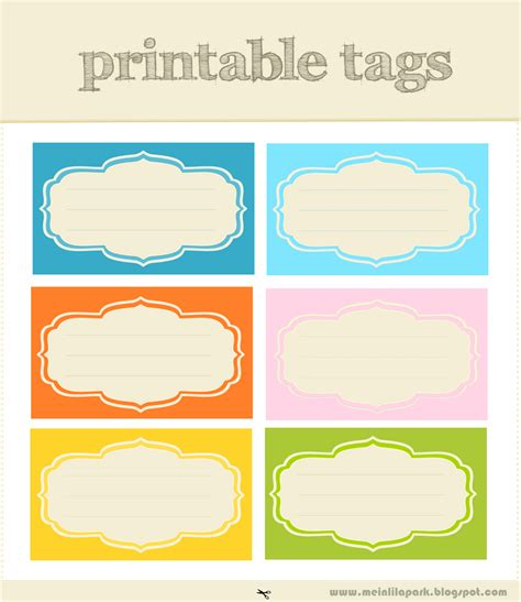 Free Printable Tags And Labels Love Rge Designs And Colors Free Printables Pinterest Free Printable Food Labels Templates
