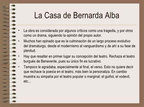 la casa de bernarda alba - Resumen Del Libro De La Casa De Bernarda Alba