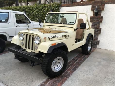jeep cj golden eagle 1979 jeep cj7 golden eagle levi s edition ca smog