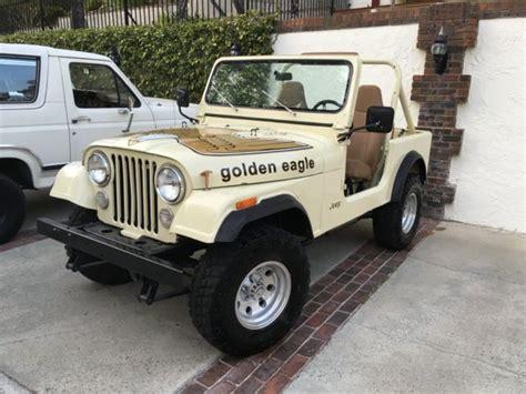 jeep cj golden eagle 1979 jeep cj7 golden eagle levi s edition ca smog