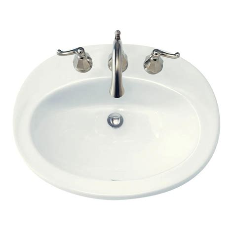 self rimming bathroom sinks american standard piazza self rimming bathroom sink in