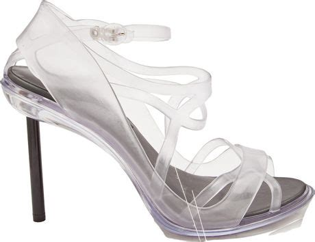 Jean Paul Gaultier Black Heels jean paul gaultier strappy heel in white black lyst