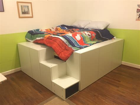 ikea hack bed platform platform bed with stairs gallery including ikea hack diy