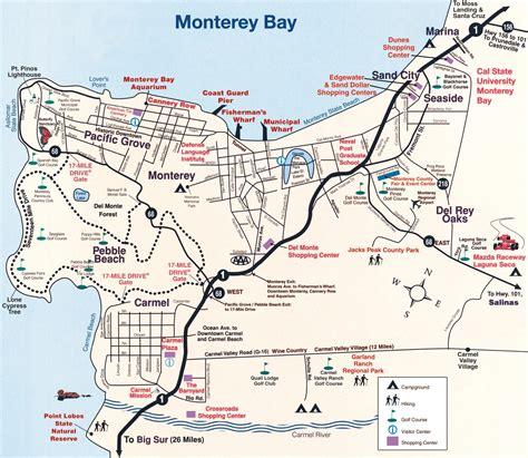 map monterey ca monterey peninsula map