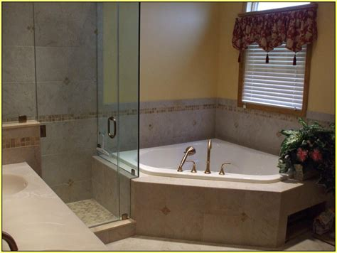 corner bathtub with shower combo corner tub shower combo home design ideas