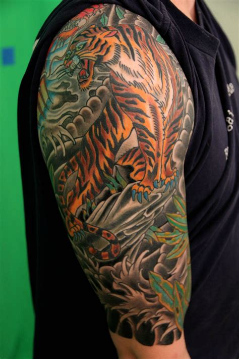 quarter sleeve tattoo themes japanese tattoos designs ideas and meaning tattoos for you