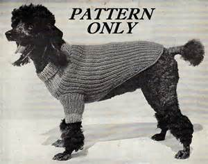 Vintage dog sweater pattern will fit most small and medium sized dogs