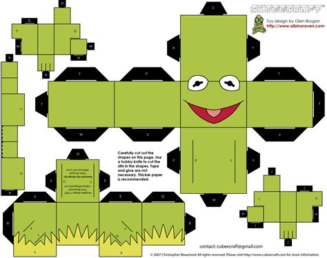 Paper Craft Printable - paper craft templates from cubecraft luke wallace
