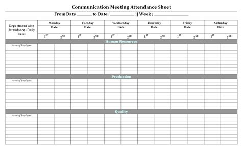 conference attendance report template communication meeting attendance sheet format