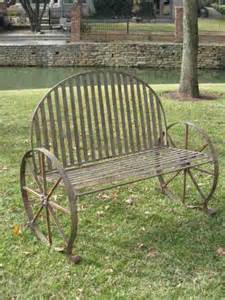gardening bench with wheels wagon wheel chair idea whimsy pinterest metals