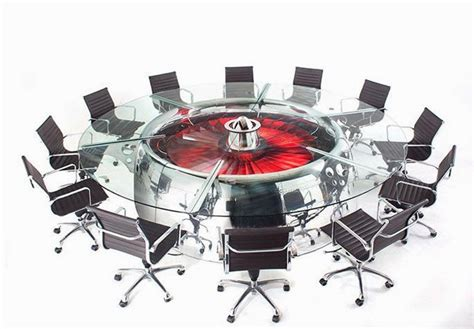 Cool Meeting Table Cool Conference Table That Is Made From Plane Engine Nacelle Boeing 747 Jumbo Jet Conference