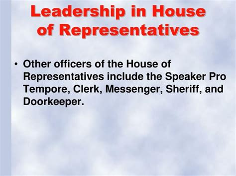 leader of house of representatives ppt legislative branch of government powerpoint presentation id 2825363