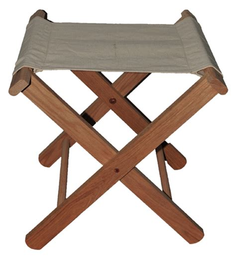 c stool oak canvas