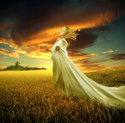 The Harvest Harvest Hers demeter ceres goddess of harvest fertility and