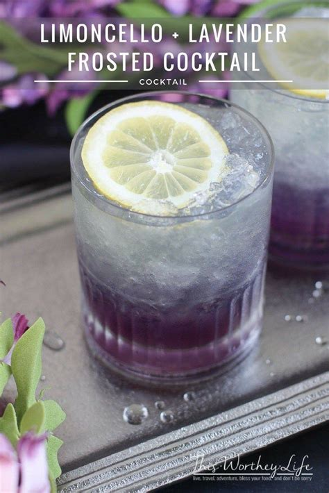 lavender cocktail lemoncello lavender frosted cocktail recipe