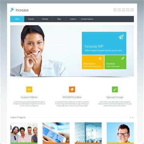 templates for wordpress website wordpress templates for business 50 best metro wordpress
