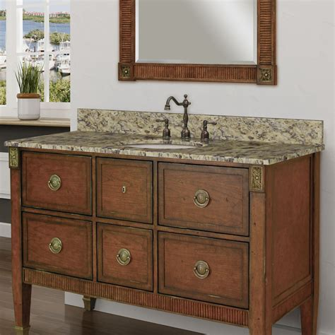 bathroom vanity with tops sagehill granite 49 quot single bathroom vanity top wayfair