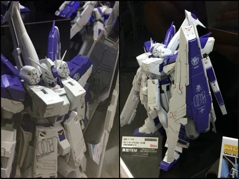 Hi Nu Gundam Hws P Bandai update mg 1 100 hi nu gundam ver ka p bandai hws heavy weapon system on display gundam