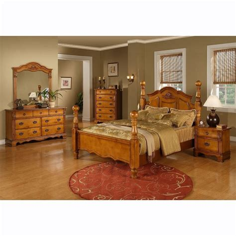 King Size Bedroom Sets Wood by Four Poster Bed King Size Platform Bedroom Set Solid Wood