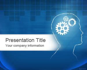 template ppt free brain brain power point template