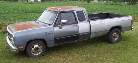 sell used 1992 dodge ram d350 cummins turbo diesel 2wd 92 parts or fix in allenton michigan