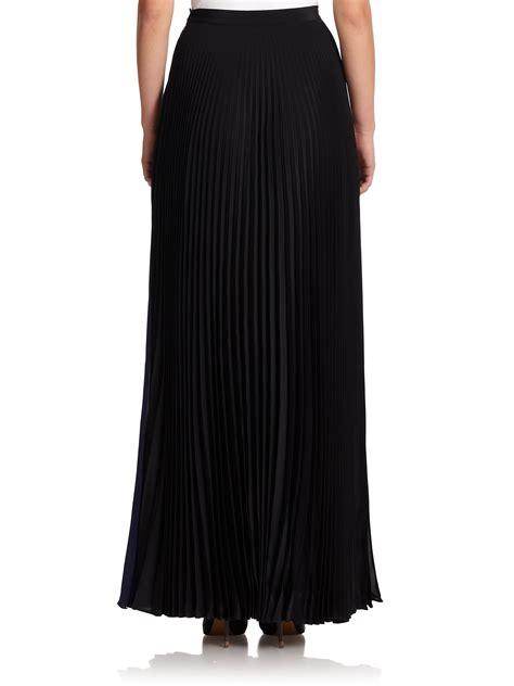 fendi pleated bicolor chiffon skirt in black lyst
