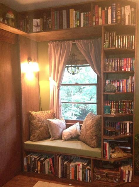 house nook 36 fabulous home libraries showcasing window seats