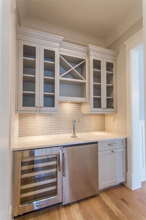 Built In Bar Cabinets Gray Bar Transitional Kitchen Benjamin Nimbus Jacksonbuilt Custom Homes