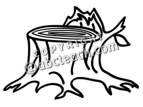 tree stump coloring page clip art basic words stump coloring page abcteach