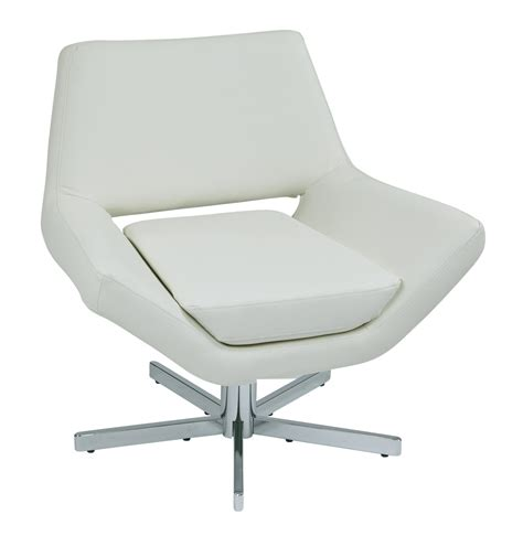 Wide Chair by Quot Yield 31 Quot Quot Modern White Faux Leather Lounge Chair With