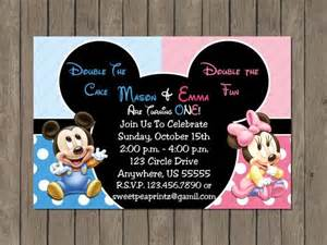 twin baby mickey and minnie mouse boy or no picture