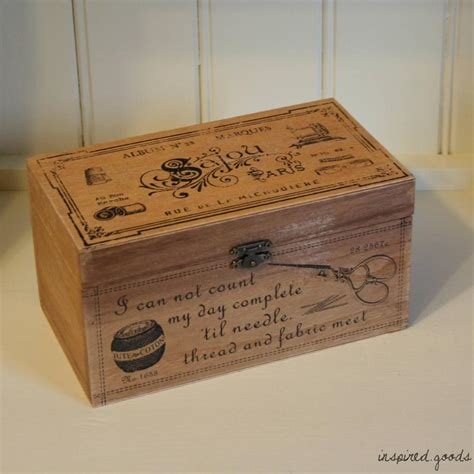 vintage wooden storage box french shabby chic rustic kitchen crate antique boxes ebay