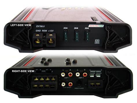 Kicker Zx700 5 kicker zx700 5 factory refurbished 5 channel lifier