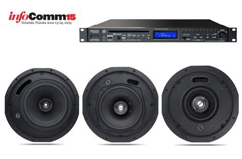 infocomm 2015 denon unveils ceiling speakers and media