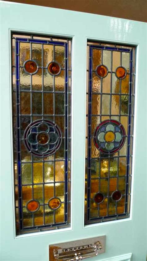 The Stained Glass Door Company Style 2 Panel Stained Glass Front Door Stained Glass Doors Company
