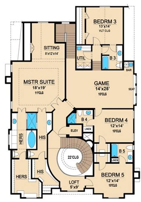 Mercedes Homes Floor Plans by Mercedes 4702 5 Bedrooms And 5 Baths The House Designers