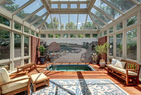 indoor patio designs indoor patio and pool traditional sunroom other by