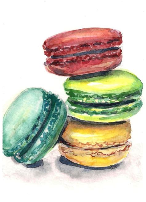 kitchen paintings macaron painting macaroon watercolor painting kitchen