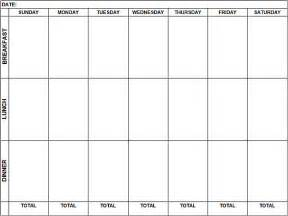 menu calendar template weekly calendar print out weekly calendar template